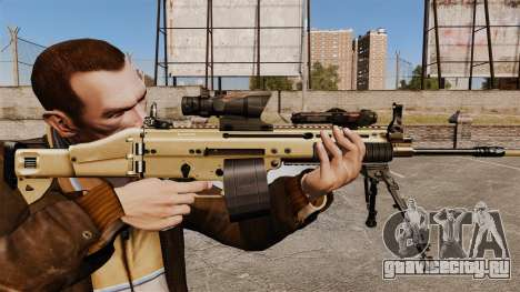 Штурмовой автомат FN SCAR-L для GTA 4
