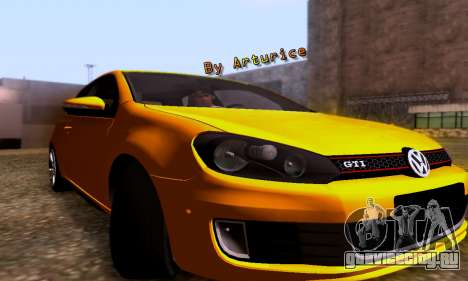 Volkswagen Golf 6 GTI для GTA San Andreas вид слева