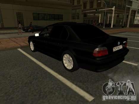 BMW 740I для GTA San Andreas вид сзади