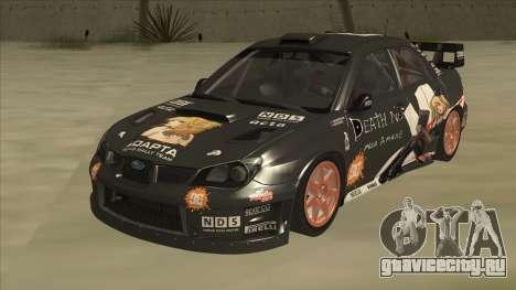 Subaru Impreza WRC Itasha для GTA San Andreas