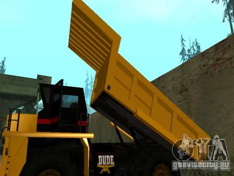 Новый Dumper для GTA San Andreas вид сбоку