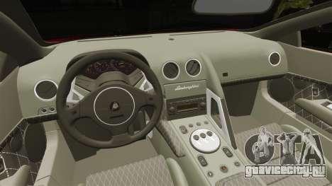 Lamborghini Murcielago 2005 для GTA 4 вид изнутри