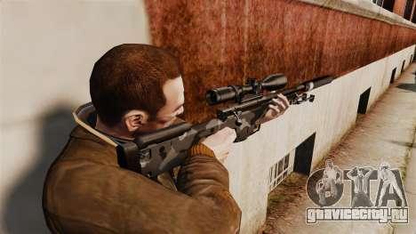 Снайперская винтовка AW L115A1 с глушителем v5 для GTA 4 второй скриншот