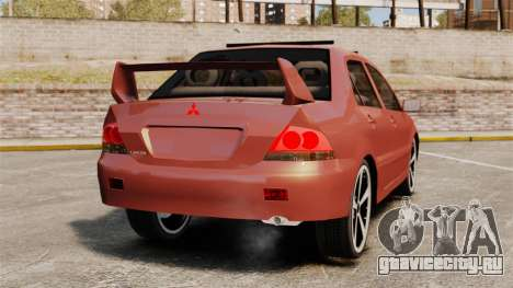 Mitsubishi Lancer Evolution IX 1.6 для GTA 4 вид сзади слева