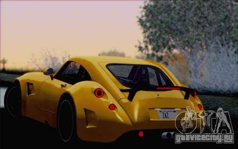 Wiesmann GT MF5 2010 для GTA San Andreas колёса
