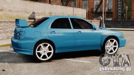 Subaru Impreza для GTA 4 вид слева