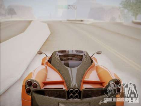 Pagani Huayra для GTA San Andreas вид изнутри
