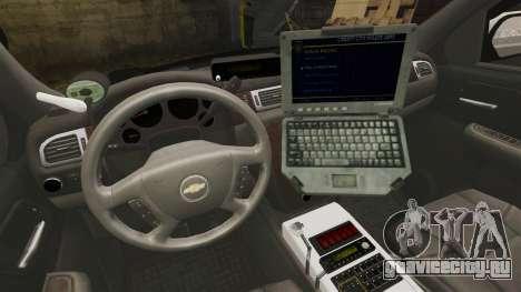 Chevrolet Suburban GTA V Blaine County Sheriff для GTA 4 вид сзади