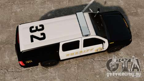 Chevrolet Suburban GTA V Blaine County Sheriff для GTA 4 вид справа