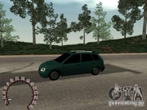 Lada 1117 Калина для GTA San Andreas вид слева