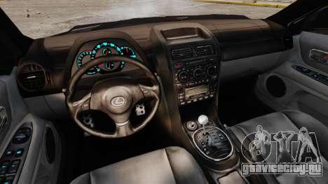 Lexus IS300 для GTA 4 вид сзади