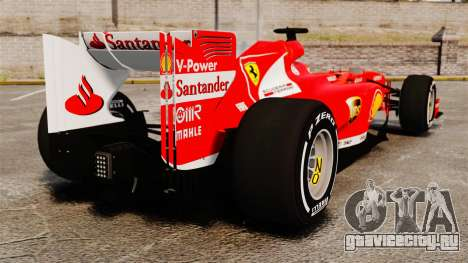 Ferrari F138 2013 v4 для GTA 4 вид сзади слева