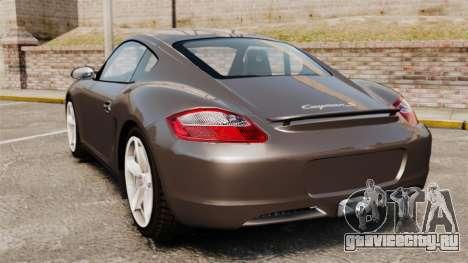 Porsche Cayman S для GTA 4 вид сзади слева