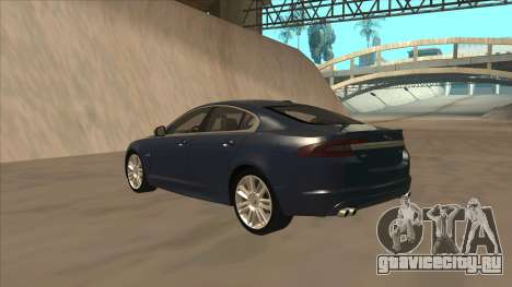 Jaguar XFR 2010 v1.0 для GTA San Andreas вид сзади