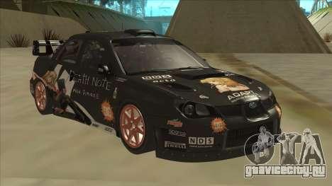 Subaru Impreza WRC Itasha для GTA San Andreas вид слева