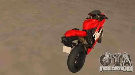 Ducatti Desmosedici RR 2012 для GTA San Andreas вид сзади слева