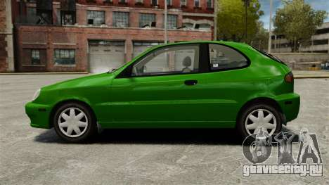 Daewoo Lanos FL 2001 US для GTA 4 вид слева