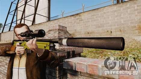 Снайперская винтовка AW L115A1 с глушителем v3 для GTA 4 третий скриншот