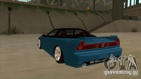 Honda NSX для GTA San Andreas вид сзади