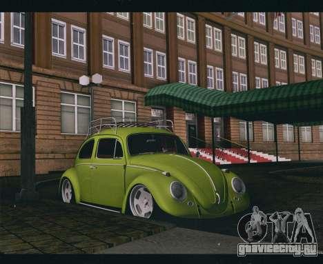 Volkswagen Beetle 1966 для GTA San Andreas вид сзади слева