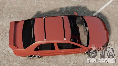 Mitsubishi Lancer Evolution IX 1.6 для GTA 4 вид справа