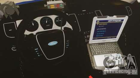 Ford Taurus Police Interceptor 2013 LCPD [ELS] для GTA 4 вид сзади