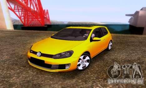 Volkswagen Golf 6 GTI для GTA San Andreas