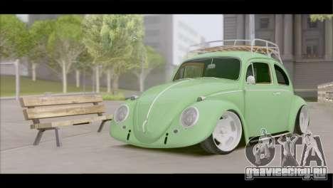 Volkswagen Beetle 1966 для GTA San Andreas вид сзади