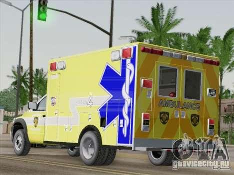 Dodge Ram Ambulance BCFD Paramedic 100 для GTA San Andreas вид сзади слева