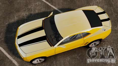 Chevrolet Camaro Bumblebee для GTA 4 вид справа