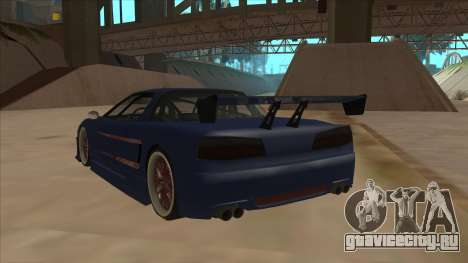 Infernus 2013 для GTA San Andreas вид сзади