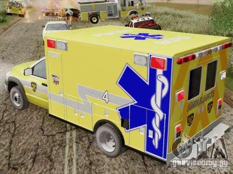 Dodge Ram Ambulance BCFD Paramedic 100 для GTA San Andreas вид сбоку