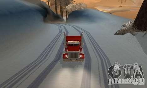 Зимний мод для SA:MP для GTA San Andreas третий скриншот