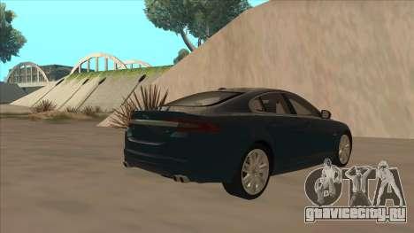 Jaguar XFR 2010 v1.0 для GTA San Andreas вид справа