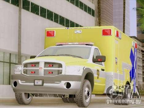 Dodge Ram Ambulance BCFD Paramedic 100 для GTA San Andreas вид слева