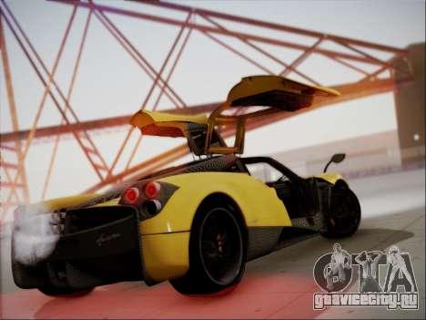 Pagani Huayra для GTA San Andreas вид сзади слева