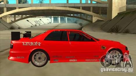 Toyota Chaser JZX100 DriftMuscle для GTA San Andreas вид сзади слева