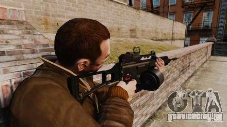 Штурмовая винтовка H&K MG36 v4 для GTA 4 второй скриншот