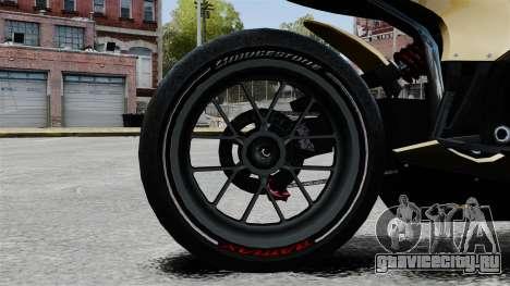 Ducati 848 для GTA 4 вид сзади