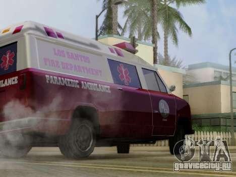 Vapid Ambulance 1986 для GTA San Andreas вид сзади