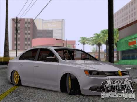 Volkswagen Jetta Rasta для GTA San Andreas вид сзади слева