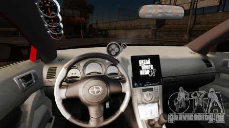 Scion tC 2.4 v2.0 Tuning Edition для GTA 4 вид сзади