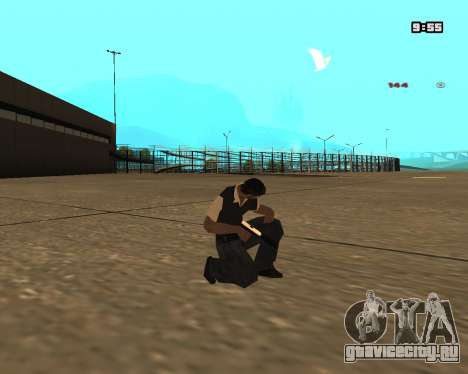 White Chrome Silenced для GTA San Andreas второй скриншот