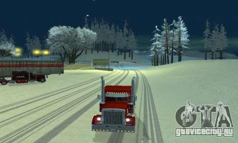 Зимний мод для SA:MP для GTA San Andreas второй скриншот