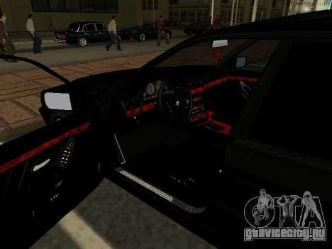 BMW 740I для GTA San Andreas вид изнутри