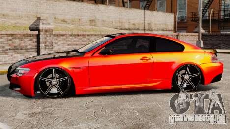 BMW M6 для GTA 4 вид слева