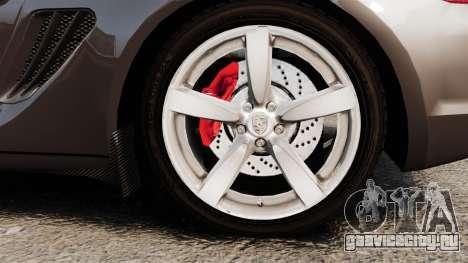 Porsche Cayman S для GTA 4 вид сзади