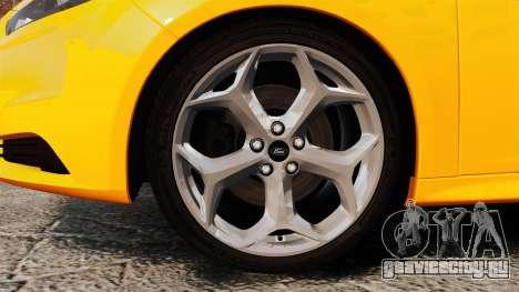 Ford Focus ST 2013 для GTA 4 вид сзади