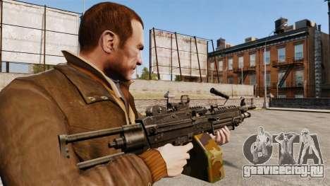 Ручной пулемёт M249 SAW для GTA 4 второй скриншот