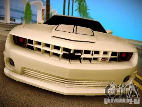 Chevrolet Camaro SS Tuning для GTA San Andreas вид сзади слева